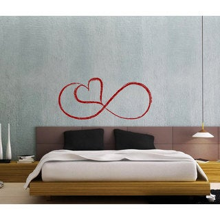 Love Infinity Vinyl Sticker Wall Art
