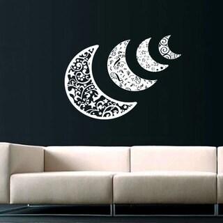 Half Moon Sky Vinyl Sticker Wall Art