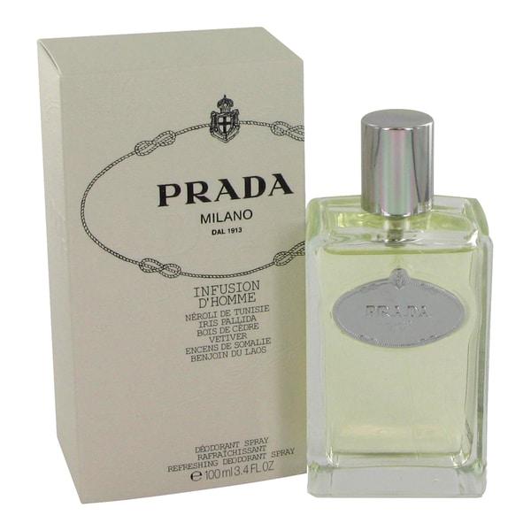 3bdd7de2a6cc Shop Prada Infusion d Homme Men s 3.4-ounce Deodorant Spray - Free Shipping  Today - Overstock.com - 10282664