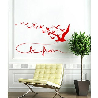 Be Free Vinyl Sticker Wall Art