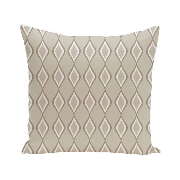 Geometric Print Blue/ Green/ Yellow/ Off White/ Brown 28-inch x 28-inch Decorative Indoor Floor Pillow