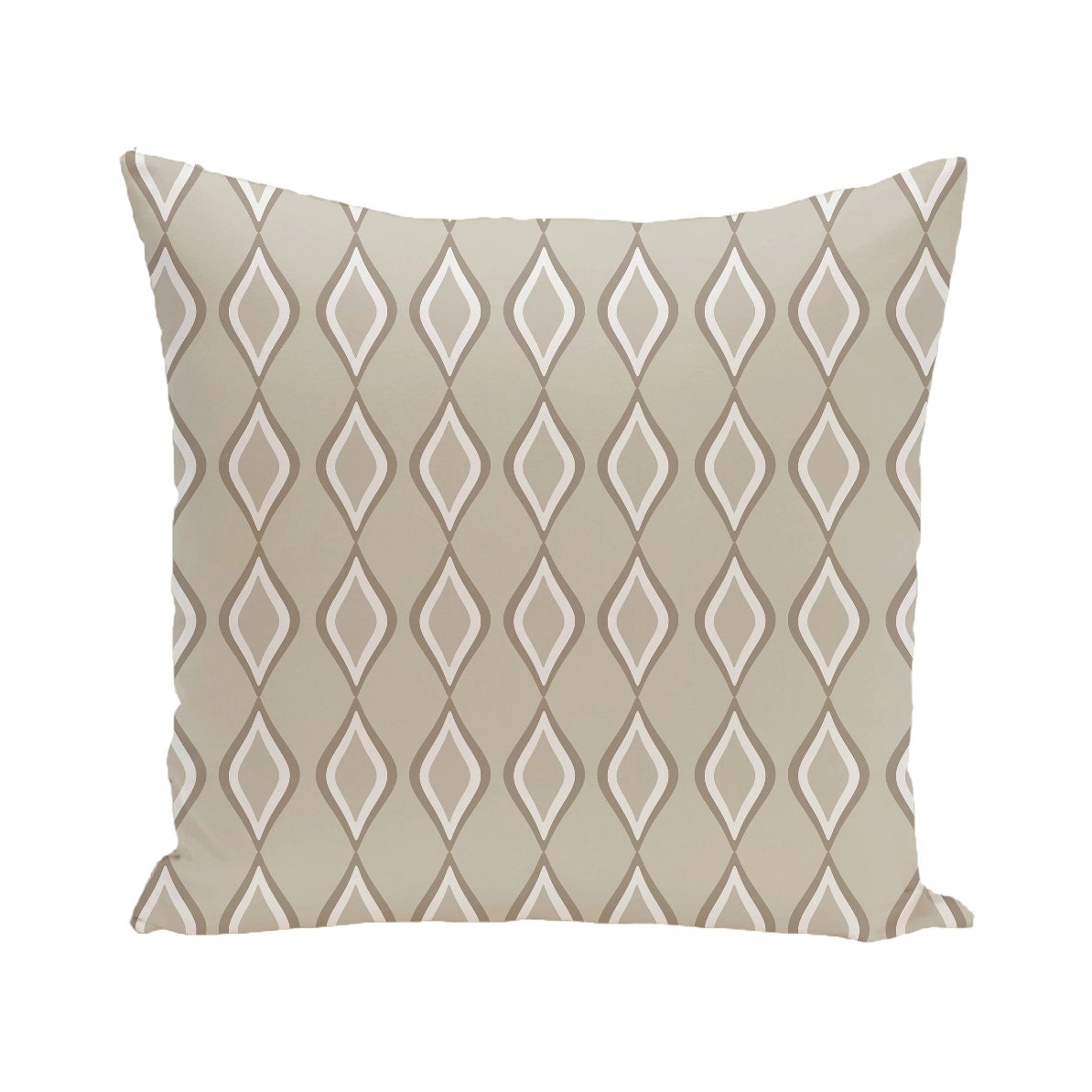 Geometric Print Blue/ Green/ Yellow/ Off White/ Brown 28-inch x 28-inch Decorative Indoor Floor Pillow (Blue)