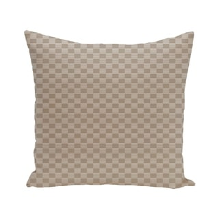 Geometric Print Brown 28-inch x 28-inch Decorative Indoor Floor Pillow