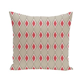 Geometric Print Blue/ Pink/ Off White 28-inch x 28-inch Decorative Indoor Floor Pillow (Option: Pink and Brown)