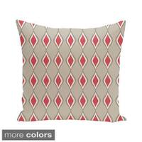 Geometric Print Blue/ Pink/ Off White 28-inch x 28-inch Decorative Indoor Floor Pillow