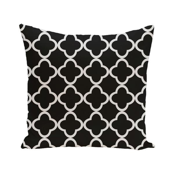 Marrakech Express Geometric Print Blue/ Black/ Purple/ Orange 28-inch x 28-inch Decorative Indoor Floor Pillow