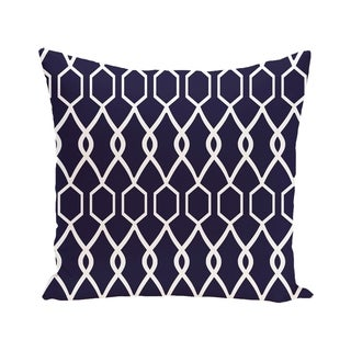 Charleston Geometric Print Blue/ Red/ Yellow/ Purple 28-inch x 28-inch Decorative Indoor Floor Pillow