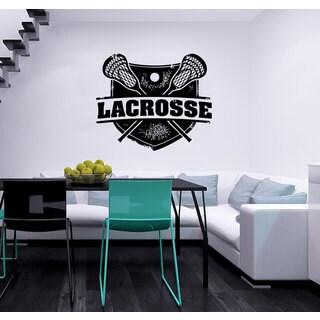 Lacrosse Logo Vinyl Sticker Wall Art