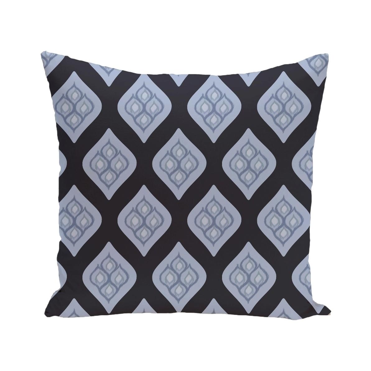 Geometric Print Blue/ Grey/ Green/ Purple 28-inch x 28-inch Decorative Indoor Floor Pillow (Navy Blue)