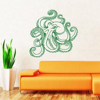 Octopus Vinyl Sticker Wall Art
