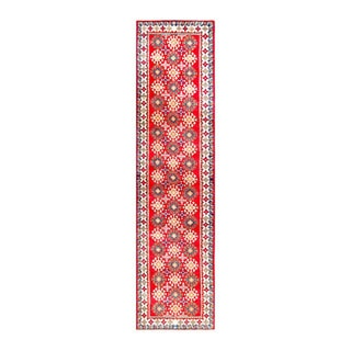Herat Oriental Afghan Hand-knotted Tribal Vegetable Dye Kazak Wool Runner (2'7 x 10'6)