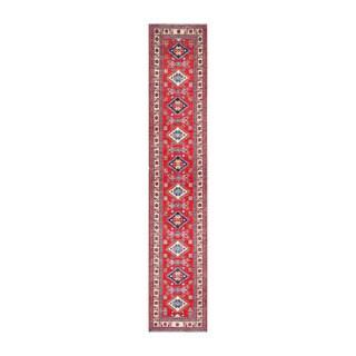 Handmade Herat Oriental Afghan Tribal Vegetable Dye Kazak Wool Runner - 2'3 x 12'4 (Afghanistan)