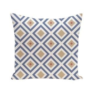 Diamond Mayhem Geometric Print Blue/ Green/ Purple 28-inch x 28-inch Decorative Indoor Floor Pillow