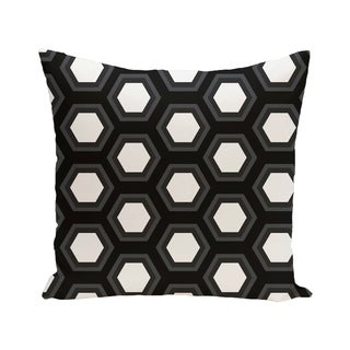 Hex Appeal Geometric Print Blue/ Black/ Grey/ Green/ Brown 28-inch x 28-inch Decorative Indoor Floor Pillow
