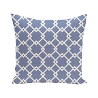 Link Lock Geometric Print Blue/ Red/ Green/ Purple 28-inch x 28-inch Decorative Indoor Floor Pillow