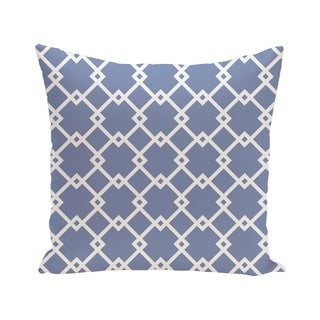 Link Lock Geometric Print Blue/ Red/ Green/ Purple 28-inch x 28-inch Decorative Indoor Floor Pillow (Option: Purple)