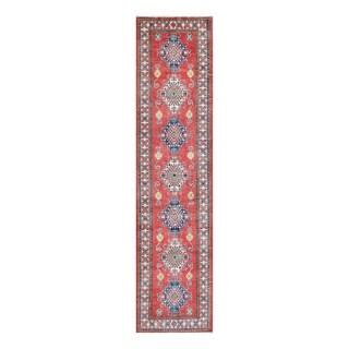 Herat Oriental Afghan Hand-knotted Tribal Vegetable Dye Kazak Wool Runner (2'7 x 11'1)