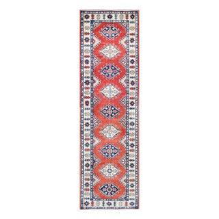 Herat Oriental Afghan Hand-knotted Tribal Vegetable Dye Kazak Wool Runner (2'7 x 9'3)
