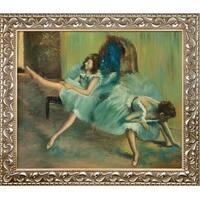 Edgar Degas 'Before the Ballet' (detail) Hand Painted Framed Canvas Art