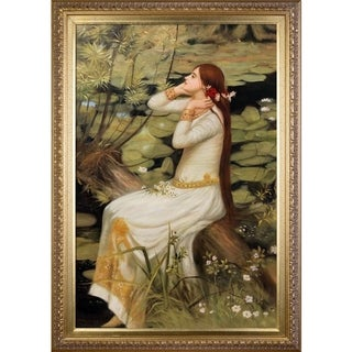 John William Waterhouse 'Ophelia' Hand Painted Framed Canvas Art