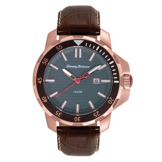 Tommy Bahama Men's 'Big Island Diver' Leather Strap Watch