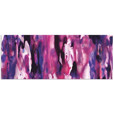 NAY 'Watercolor Composition Purple' Colorful Modern Painting Giclée on Metal