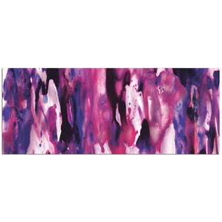 Nicholas Yust 'Watercolor Composition Purple' Colorful Modern Painting Giclée on Metal
