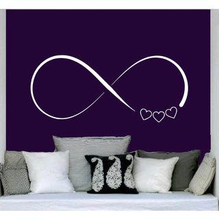 Infinity Symbol Hearts Vinyl Sticker Wall Art