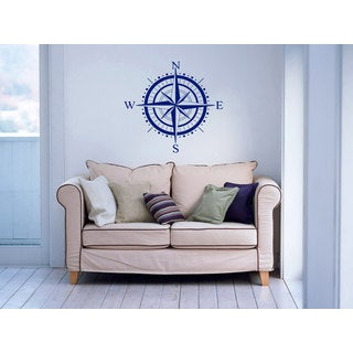 Nautical Compass Rose Vinyl Sticker Wall Art