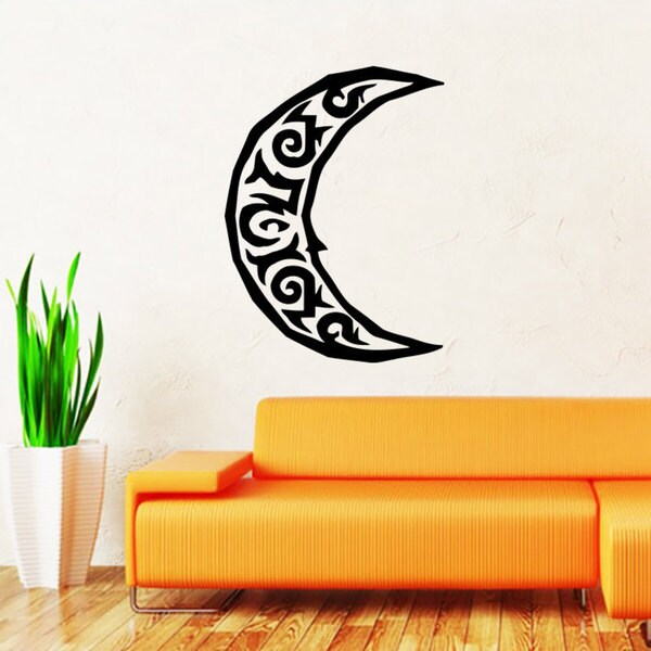 Half Moon Crescent Vinyl Sticker Wall Art