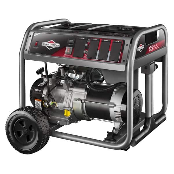 Briggs And Stratton 5500 Watt Gas Powered Portable Generator With 6 Household Outlets Overstock 10283003
