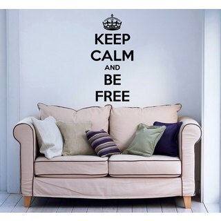 Keep Calm and be Free Vinyl Sticker Wall Art