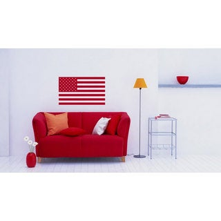 US Flag USA American Flag Vinyl Sticker Wall Art