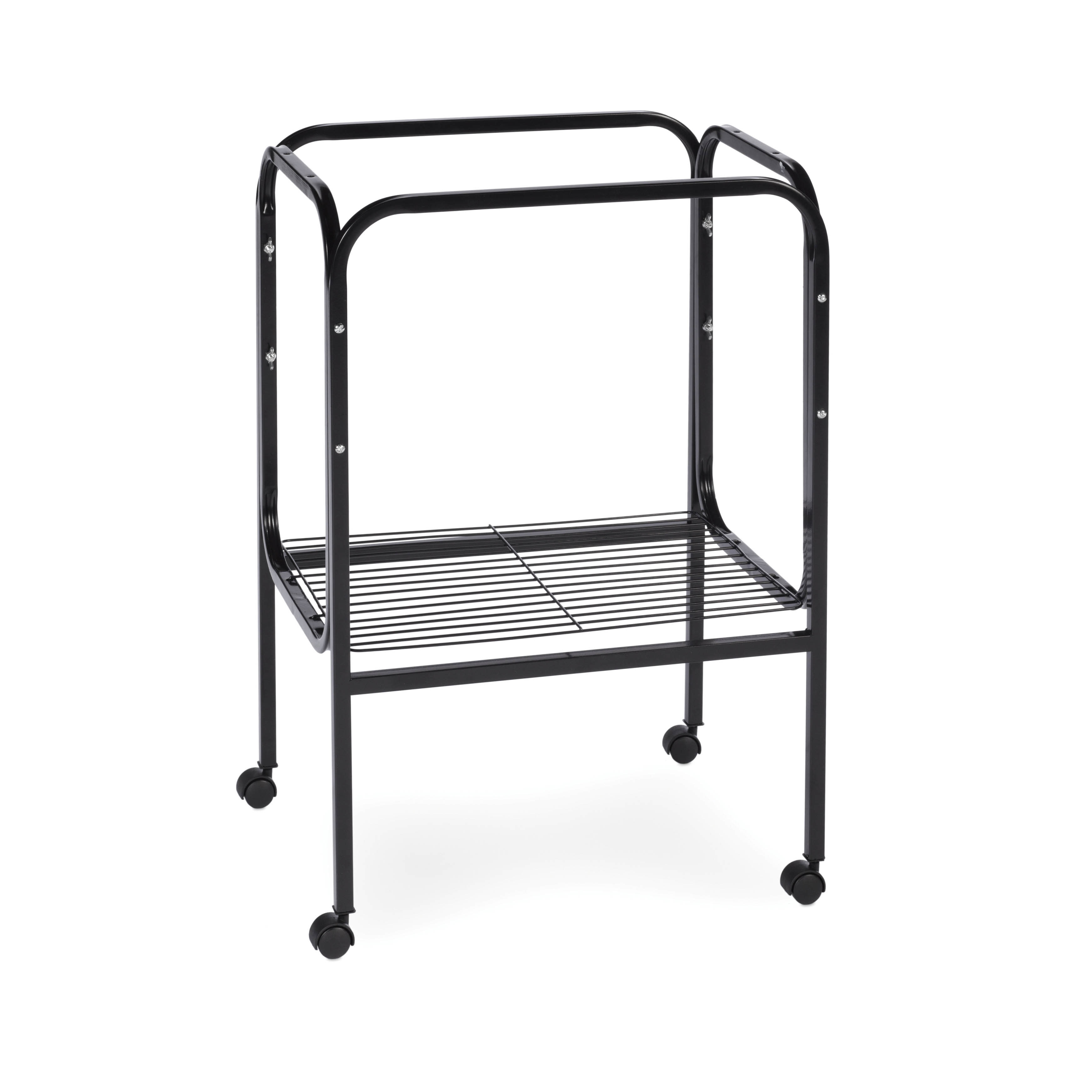 Prevue Pet Products Bird Cage Stand with Shelf (Black)