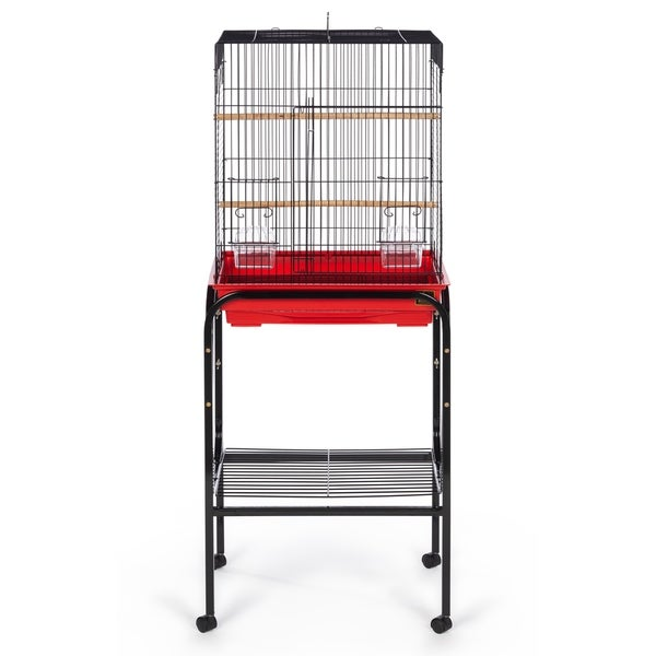 Prevue Pet Products Bird Cage Stand with Shelf Black