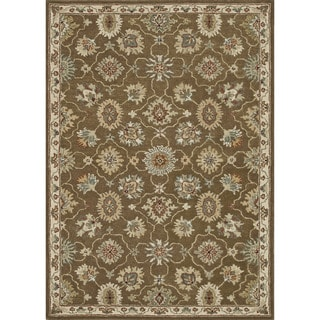 Hand-tufted Wilson Brown/ Ivory Rug (9' x 12')