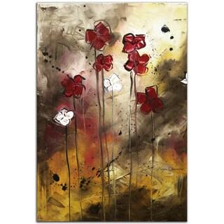 Megan Duncanson 'Floral Arrangement' Contemporary Landscape Painting Giclée on Metal