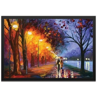 Leonid Afremov 'Alley By The Lake' Colorful Contemporary Art Giclée on Metal