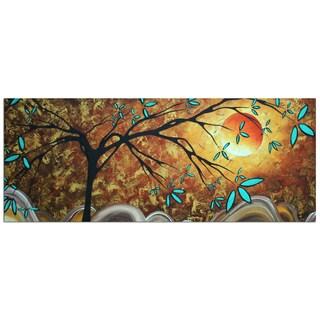 Megan Duncanson 'Apricot Moon' Modern Landscape Painting Giclée on Metal