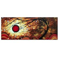 Megan Duncanson 'Flaming Desire' Modern Landscape Painting Giclée on Metal