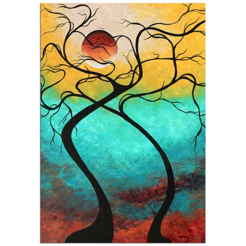 Megan Duncanson 'Twisting Love III' Colorful Contempoarary Landscape Painting Giclée on Metal