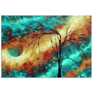Megan Duncanson 'Reaching for the Moon' Colorful Modern Landscape Painting Giclée on Metal