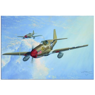 Steven Heyen 'P51' Contemporary Painting Giclée on Metal