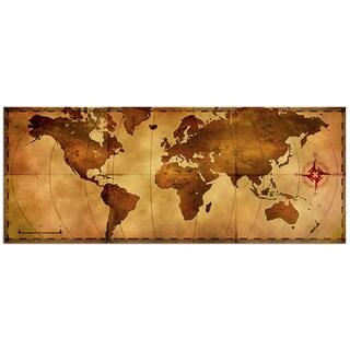 Alan Rodriguez 'Old World Map' Large Rustic World Map Metal Wall Art