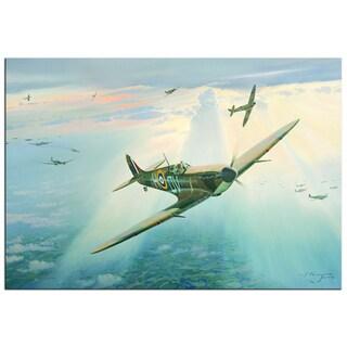 Steven Heyen 'Spitfire' Contemporary Painting Giclée on Metal
