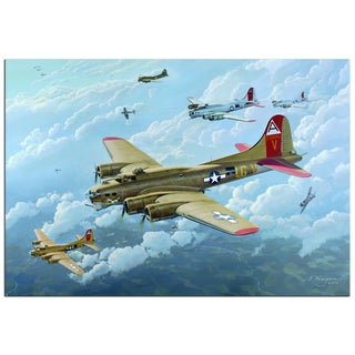 Steven Heyen 'B17' Contemporary Painting Giclée on Metal