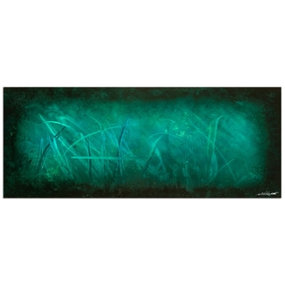 Nicholas Yust 'Ocean Mist' Modern Abstract Painting Giclée on Metal