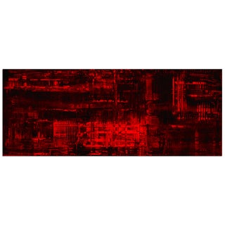Nicholas Yust 'Aporia Red' Modern Painting Giclee on Metal