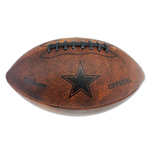Wilson Dallas Cowboys 11-inch Brown Leather Football