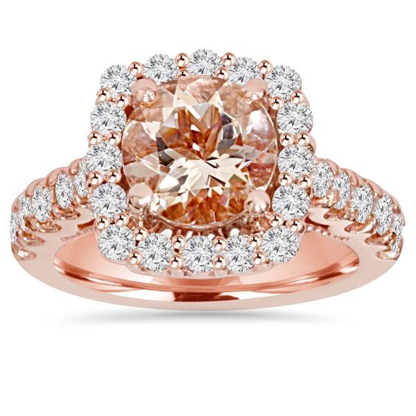 Shop Pompeii3 14k Rose Gold 1 Ct TDW Morganite And Diamond